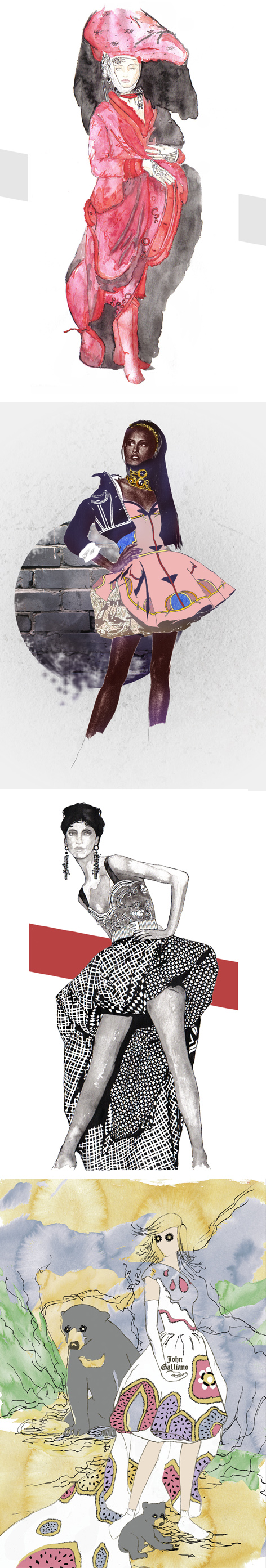 fashion illustrations long